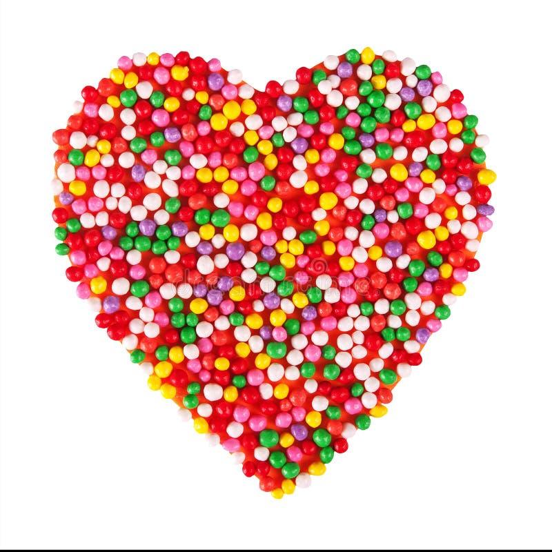 η καρδιά κέικ που απομονών&ep στοκ εικόνα με δικαίωμα ελεύθερης χρήσης