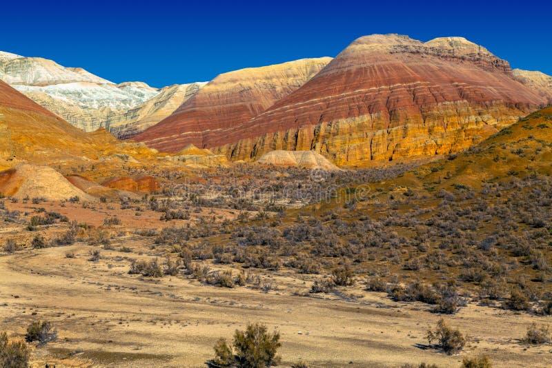 Η καρδιά του ορεινού όγκου βουνών στο εθνικό φυσικό πάρκο Altyn Emel Καζακστάν στοκ εικόνες