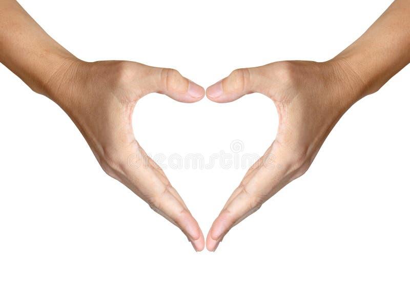 η καρδιά χεριών κάνει τη μορ&p στοκ εικόνες
