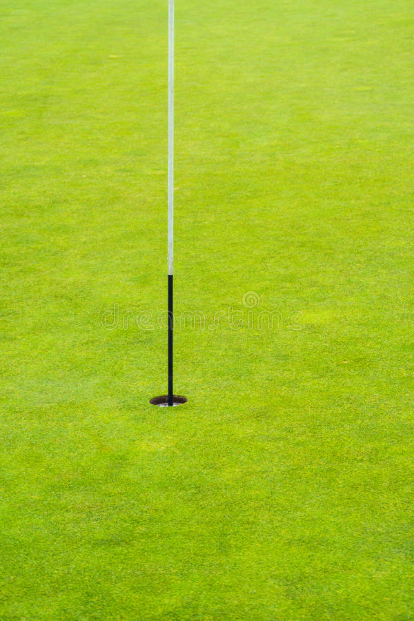 Η καρφίτσα γκολφ καλά πράσινος στοκ εικόνες