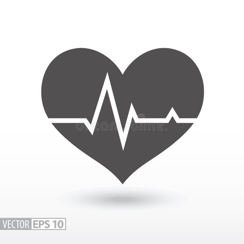 Η καρδιά κτύπησε - επίπεδο εικονίδιο διανυσματική απεικόνιση