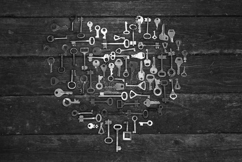 Η καρδιά του κλειδιού στοκ φωτογραφία με δικαίωμα ελεύθερης χρήσης