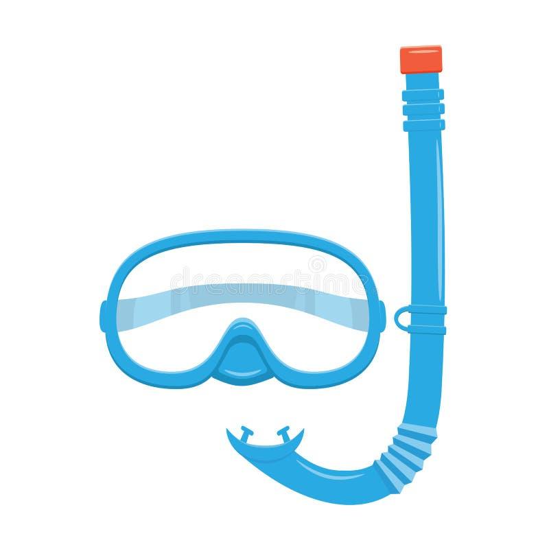 Η κατάδυση κολυμπά με αναπνευτήρα και καλύπτει διανυσματική απεικόνιση