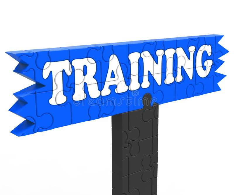 Η κατάρτιση εμφανίζει την οδηγία ή προγύμναση εκπαίδευσης απεικόνιση αποθεμάτων