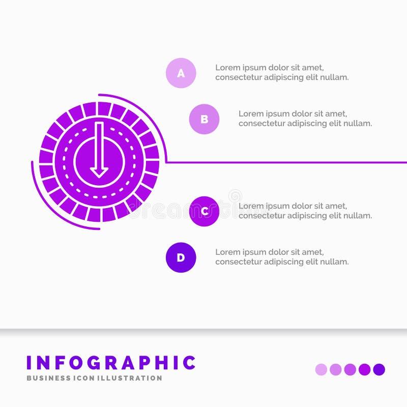 Η κατανάλωση, κόστος, δαπάνη, χαμηλότερη, μειώνει το πρότυπο Infographics για τον ιστοχώρο και την παρουσίαση r απεικόνιση αποθεμάτων