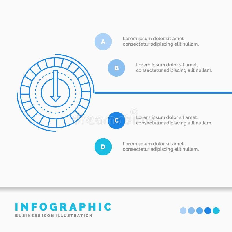 Η κατανάλωση, κόστος, δαπάνη, χαμηλότερη, μειώνει το πρότυπο Infographics για τον ιστοχώρο και την παρουσίαση Infographic ύφος ει διανυσματική απεικόνιση