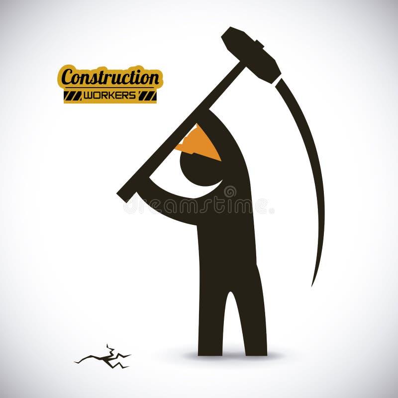 η κατασκευή απομόνωσε το συμπαθητικό εργαζόμενο εξαρτήσεων ελεύθερη απεικόνιση δικαιώματος