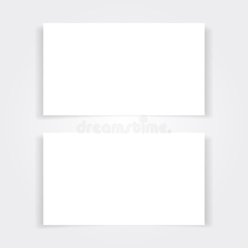 Η κενή χλεύη επαγγελματικών καρτών έθεσε επάνω ελεύθερη απεικόνιση δικαιώματος