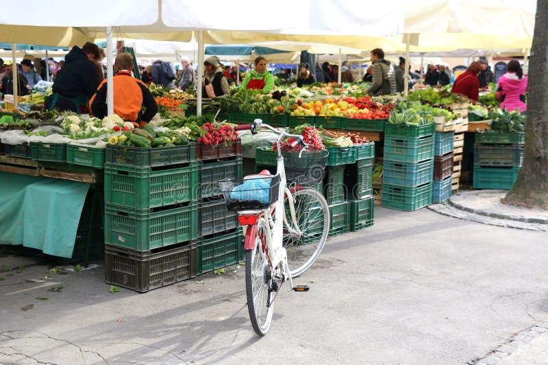 Η κεντρική αγορά του Λουμπλιάνα στοκ εικόνες