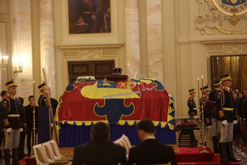 Η κηδεία του βασιλιά Michael Ι της Ρουμανίας στοκ εικόνα