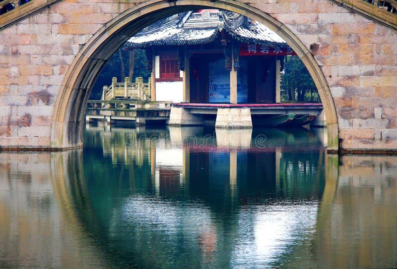 Η κινεζική αρχαία πόλη Shaoxing στοκ εικόνες