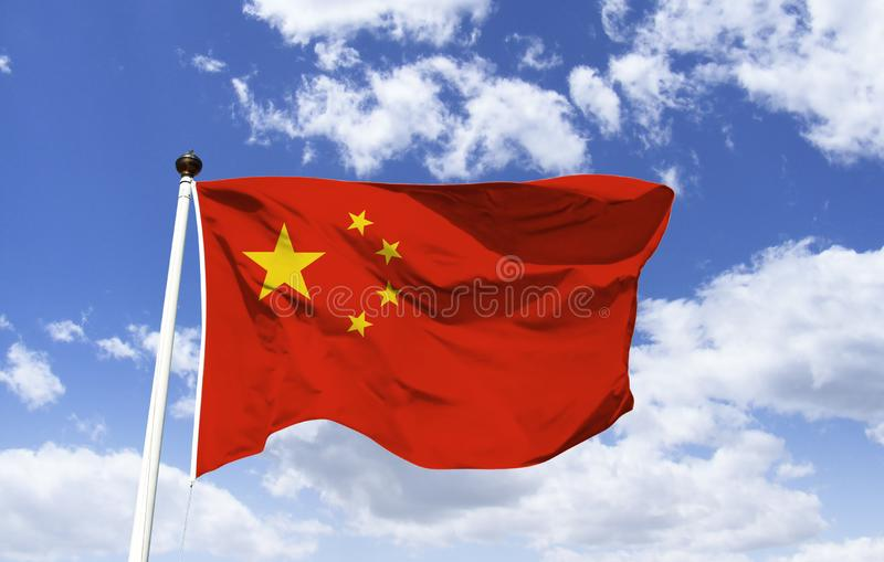 Η κινεζική σημαία, ο μεγαλύτερος συμβολίζει το PCC στοκ εικόνες με δικαίωμα ελεύθερης χρήσης