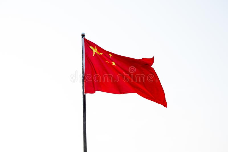 Η κινεζική σημαία στοκ εικόνα με δικαίωμα ελεύθερης χρήσης
