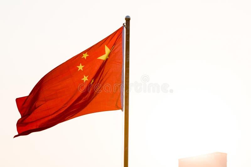 Η κινεζική σημαία στοκ εικόνες