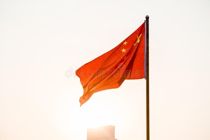 Η κινεζική σημαία στοκ εικόνες με δικαίωμα ελεύθερης χρήσης