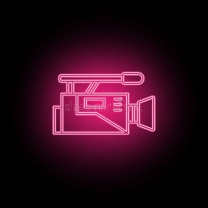 Η κινηματογραφία, ταινία, recordneon εικονίδιο μπορεί να χρησιμοποιηθεί για να επεξηγήσει τα θέματα για τη βελτιστοποίηση SEO, an διανυσματική απεικόνιση
