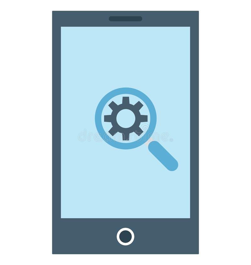 Η κινητή ανάπτυξη απομόνωσε το διανυσματικό εικονίδιο που μπορεί να είναι εκδίδει εύκολα ή τροποποίησε ελεύθερη απεικόνιση δικαιώματος