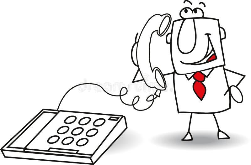 Η κλήση ενός επιχειρηματία ελεύθερη απεικόνιση δικαιώματος