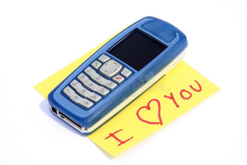 η κλήση ι σας αγαπά στοκ εικόνες