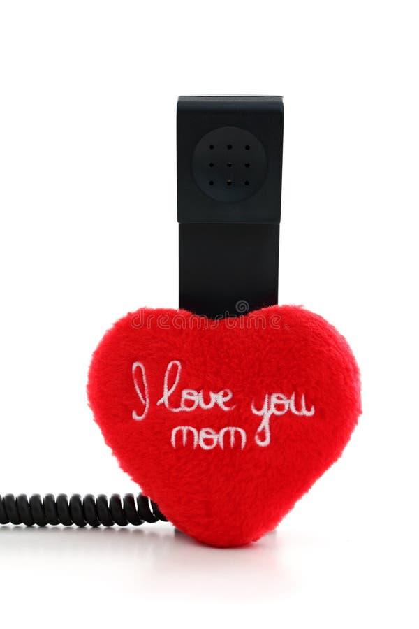 η κλήση της αγάπης ι mom λέει σε σας στοκ εικόνες