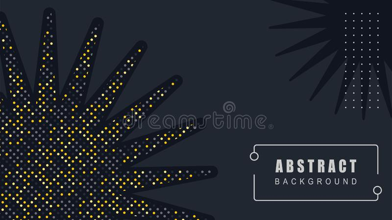 Η κομψή διακόσμηση ήλιων, αφαιρεί το μαύρο διάνυσμα υποβάθρου απεικόνιση αποθεμάτων