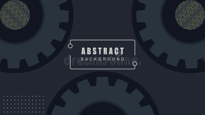Η κομψή διακόσμηση εργαλείων, αφαιρεί το μαύρο διάνυσμα υποβάθρου διανυσματική απεικόνιση