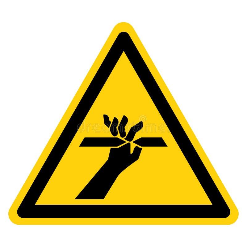 Η κοπή του σημαδιού συμβόλων δάχτυλων απομονώνει στο άσπρο υπόβαθρο, διανυσματική απεικόνιση ελεύθερη απεικόνιση δικαιώματος