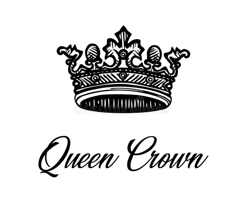 η κορώνα ανασκόπησης απομονώνει το λευκό βασίλισσας ελεύθερη απεικόνιση δικαιώματος