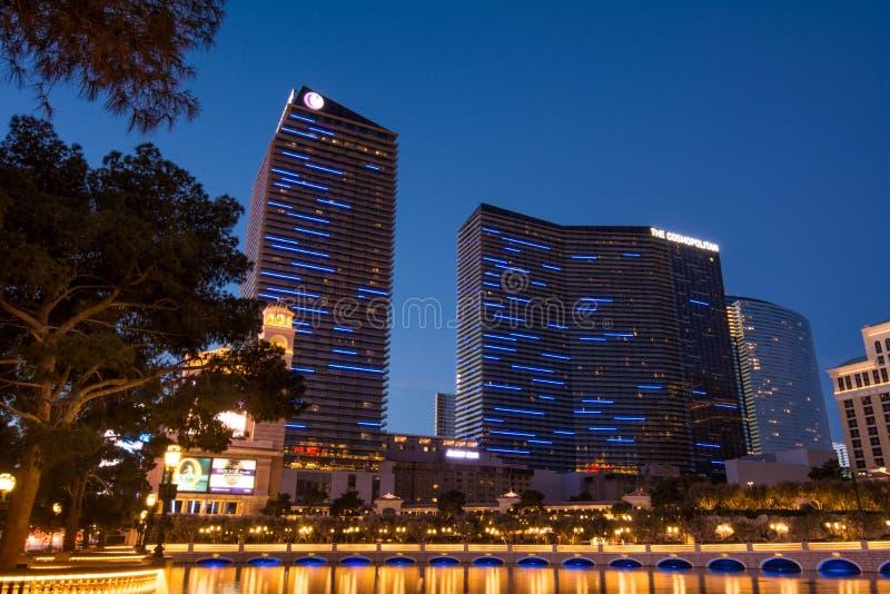 Η κοσμοπολίτικη λεωφόρος του Λας Βέγκας ξενοδοχείων στοκ εικόνα με δικαίωμα ελεύθερης χρήσης