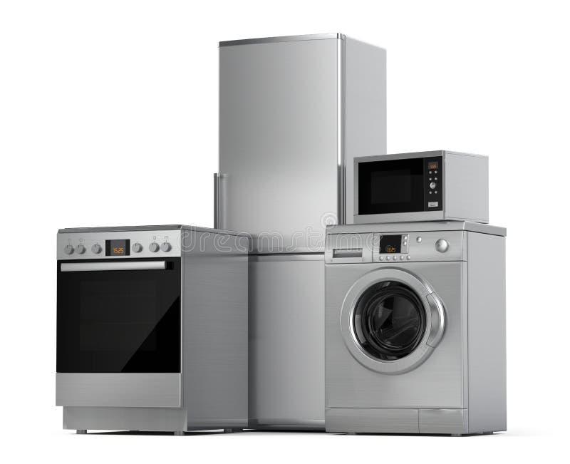 η κουζίνα βασικών εικονιδίων σχεδίου συσκευών έθεσε σας απεικόνιση αποθεμάτων