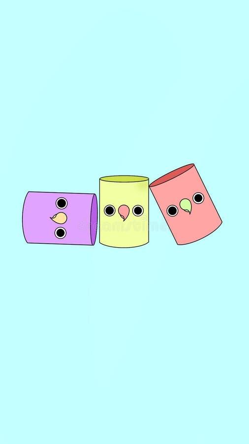 Η κουκουβάγια κονσερβοποιεί το κάθετο τηλέφωνο ταπετσαριών διανυσματική απεικόνιση