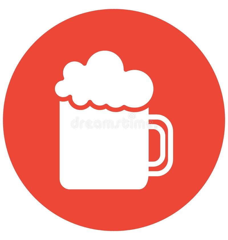 Η κούπα μπύρας απομόνωσε το διανυσματικό εικονίδιο που μπορεί εύκολα  απεικόνιση αποθεμάτων