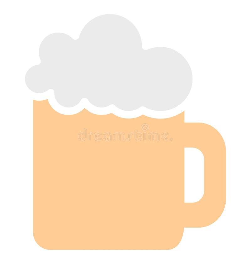 Η κούπα μπύρας απομόνωσε το διανυσματικό εικονίδιο που μπορεί εύκολα να τροποποιήσει ή να εκδώσει το απομονωμένο κούπα διανυσματι απεικόνιση αποθεμάτων