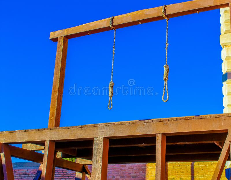 Η κρεμαστή αγχόνη στην Tombstone Αριζόνα στοκ φωτογραφία