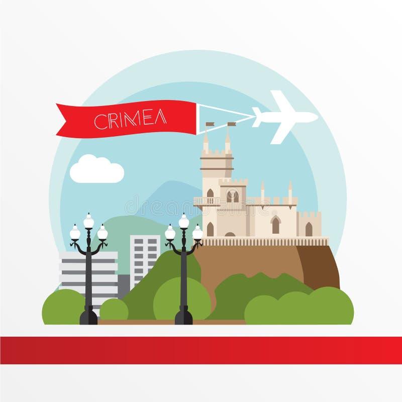 Η Κριμαία απαρίθμησε τη σκιαγραφία διανυσματική απεικόνιση