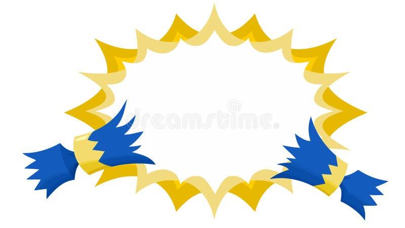 Η κροτίδα Χριστουγέννων δεν τράβηξε με επίπεδο Starburst καμία περίληψη μπλε και χρυσός ελεύθερη απεικόνιση δικαιώματος