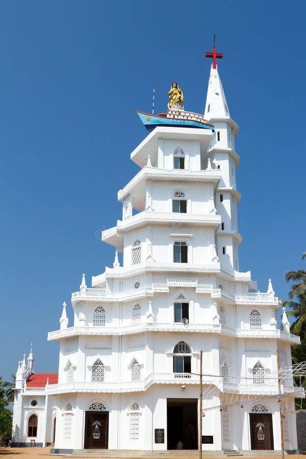 Η κυρία μας καλής εκκλησίας ταξιδιών, Kottappuram, Vizhinjam στοκ φωτογραφία με δικαίωμα ελεύθερης χρήσης