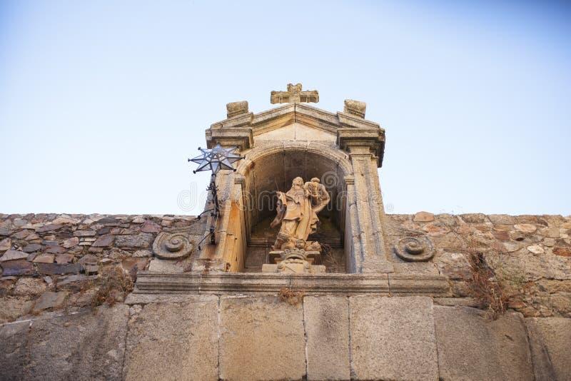 Η κυρία μας του αστεριού, Arco de Λα Estrella, Caceres στοκ φωτογραφία με δικαίωμα ελεύθερης χρήσης