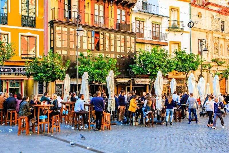 Η Κυριακή στη Σεβίλλη, Ισπανία στοκ φωτογραφία με δικαίωμα ελεύθερης χρήσης