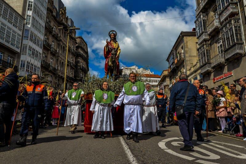 Η Κυριακή φοινικών στο Vigo - τη Γαλικία, Ισπανία στοκ εικόνες