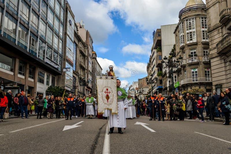 Η Κυριακή φοινικών στο Vigo - τη Γαλικία, Ισπανία στοκ φωτογραφία