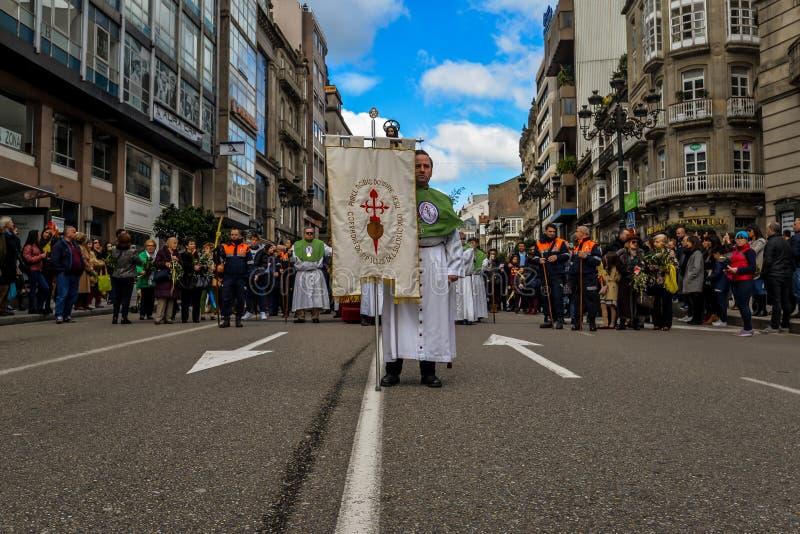 Η Κυριακή φοινικών στο Vigo - τη Γαλικία, Ισπανία στοκ εικόνα με δικαίωμα ελεύθερης χρήσης