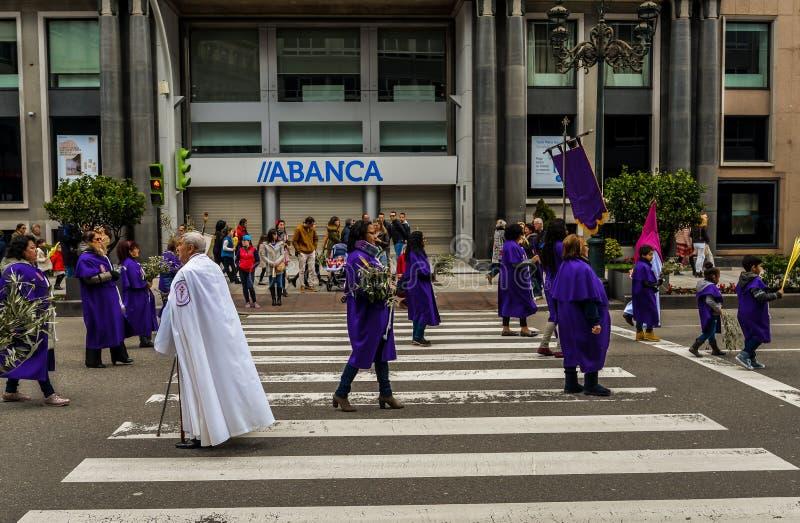 Η Κυριακή φοινικών στο Vigo - τη Γαλικία, Ισπανία στοκ φωτογραφίες με δικαίωμα ελεύθερης χρήσης