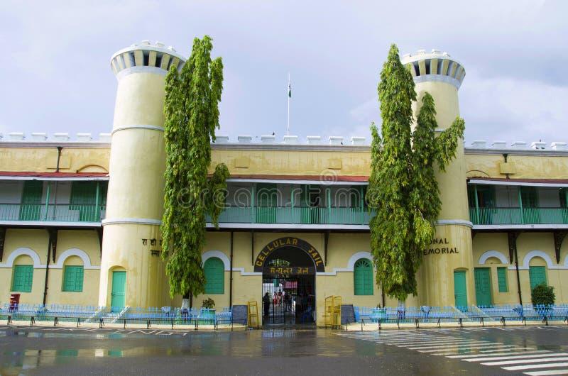 Η κυψελοειδής φυλακή, επίσης γνωστή ως νησιά της Kala Pani, λιμένων Blair, Andaman και Nicobar στοκ εικόνες με δικαίωμα ελεύθερης χρήσης