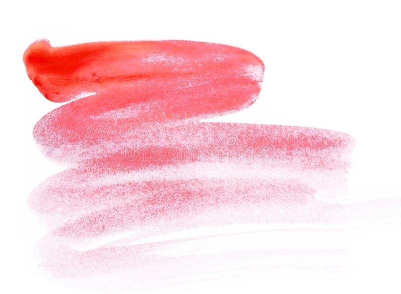 Η κόκκινη βούρτσα κτυπά το χρώμα που απομονώνεται στο άσπρο υπόβαθρο στοκ φωτογραφία με δικαίωμα ελεύθερης χρήσης