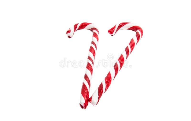 η κόκκινη καραμέλα Χριστουγέννων μπορεί απομονωμένος στοκ φωτογραφίες
