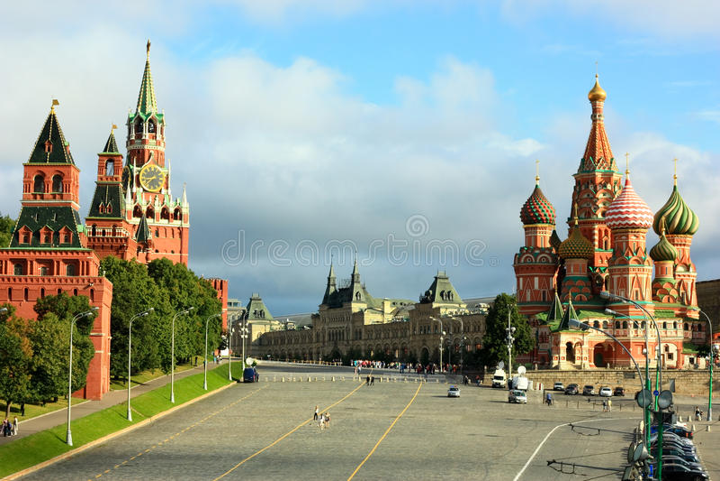 Η κόκκινη πλατεία στη Μόσχα στοκ φωτογραφία με δικαίωμα ελεύθερης χρήσης