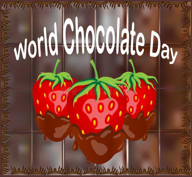 Η κόκκινη φράουλα μούρων βύθισε στη λειώνοντας σκοτεινή σοκολάτα, φρούτα, fondue συνταγή, έννοια βαλεντίνων, διαφανής απεικόνιση αποθεμάτων