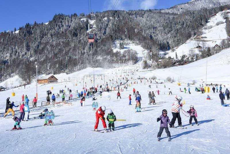 Η κλίση Engelberg στις ελβετικές Άλπεις στοκ φωτογραφίες