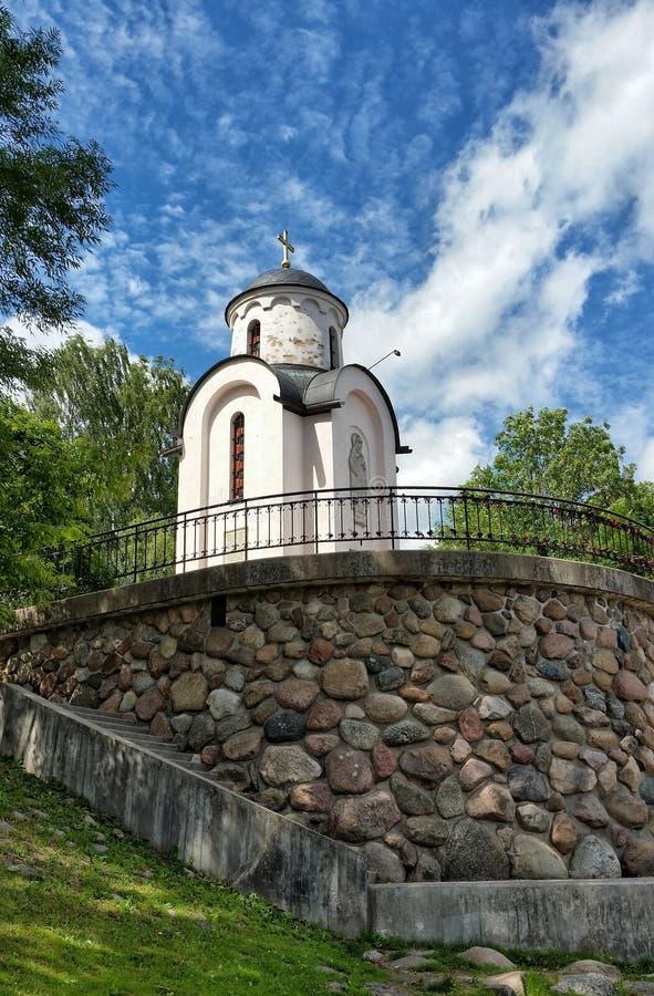 Η λάρνακα ναών του Pskov Ρωσία εκκλησιών στοκ εικόνα